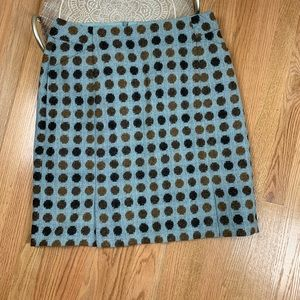 Boden British Tweed Polka Dot Mini Skirt